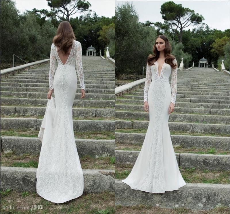 long tight wedding dresses photo - 1