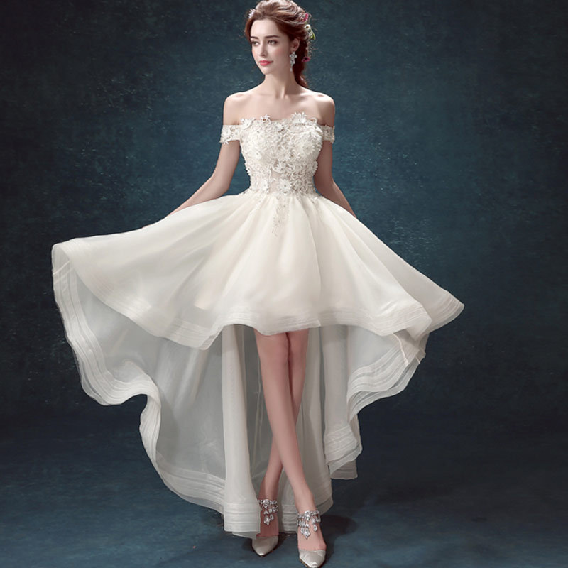 long to short wedding dresses photo - 1