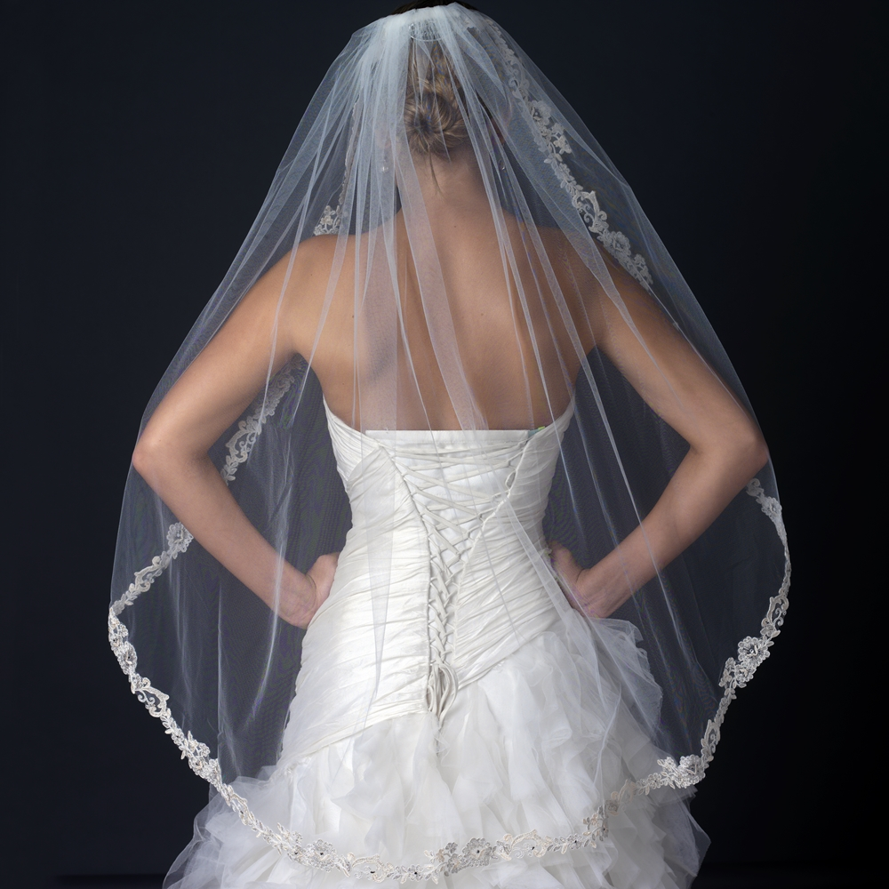 long veil wedding dresses photo - 1