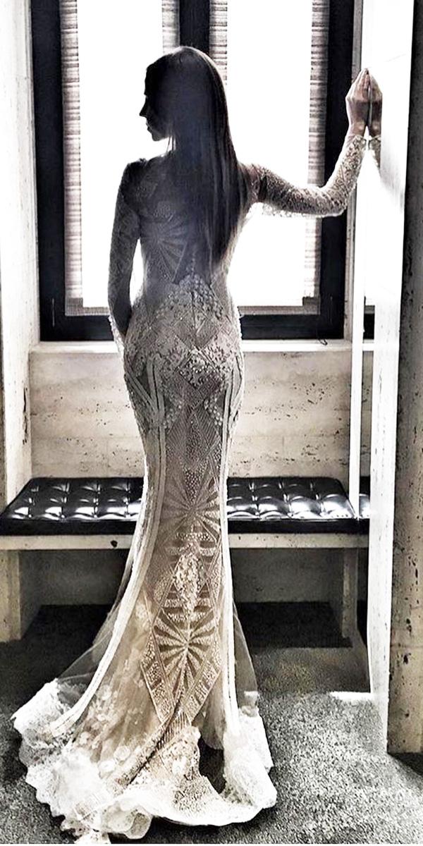 long vintage wedding dresses photo - 1