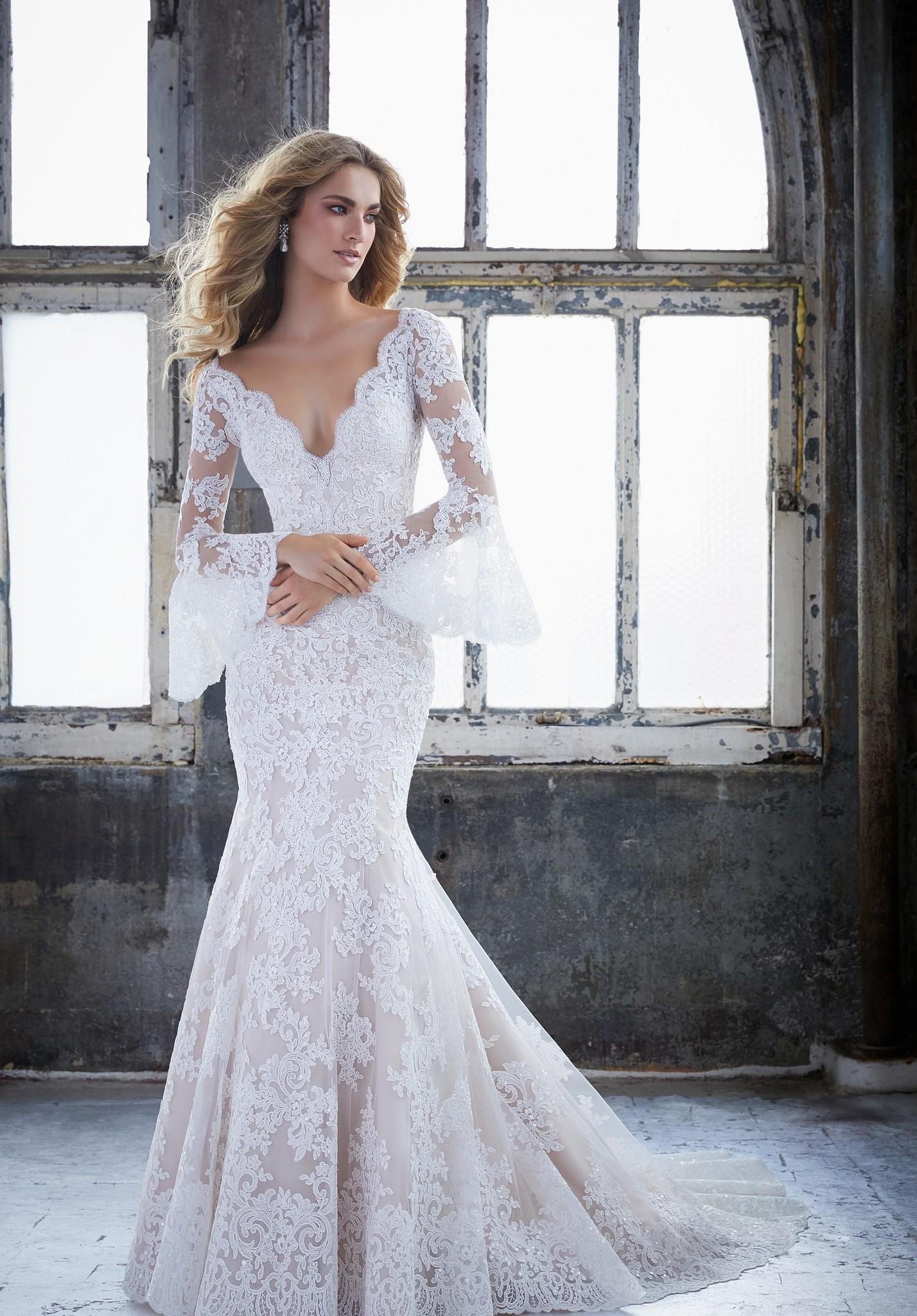 long white wedding dresses photo - 1