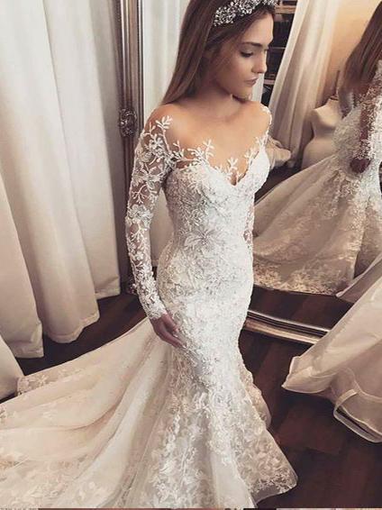 luxury mermaid wedding dresses photo - 1