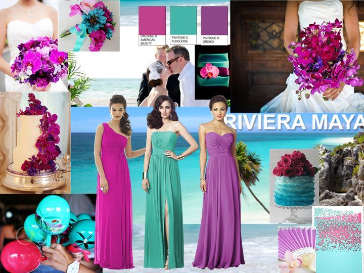 magenta wedding dresses photo - 1
