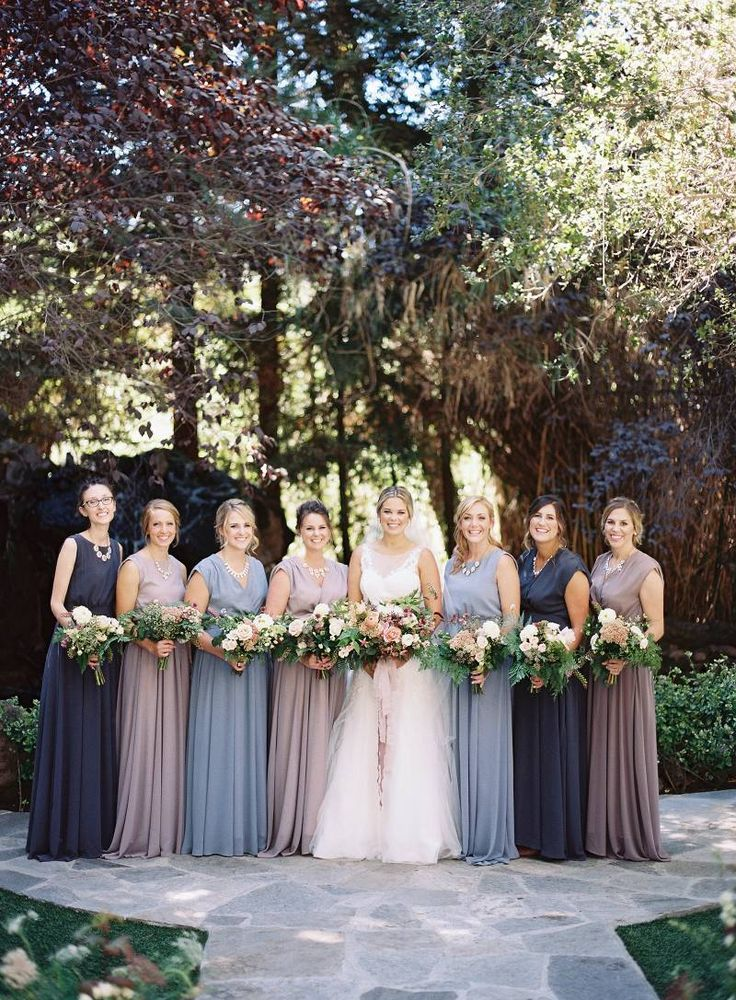 mauve dresses wedding photo - 1