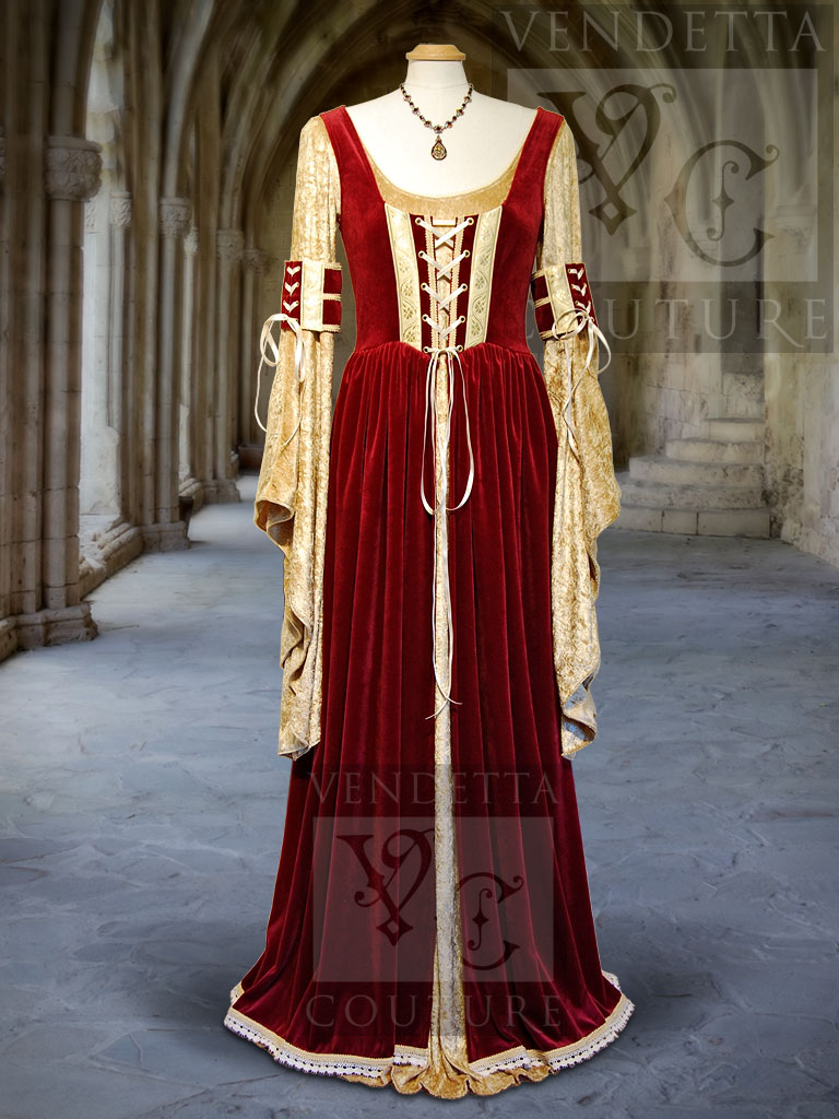 medieval style wedding dresses photo - 1