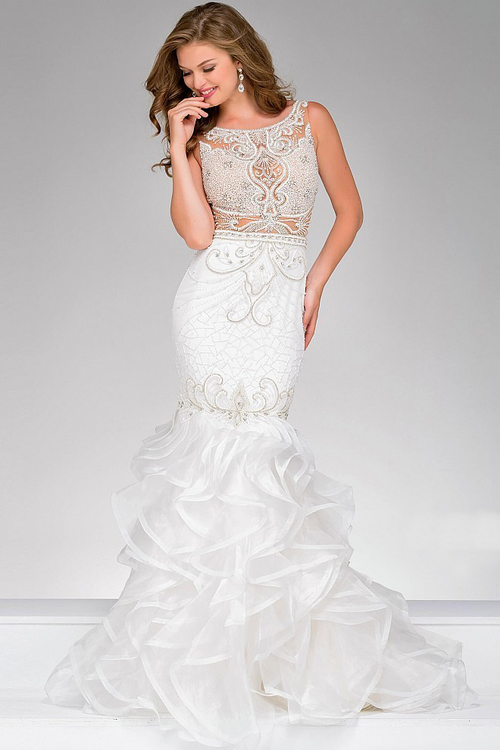 mermaid style wedding dresses photo - 1