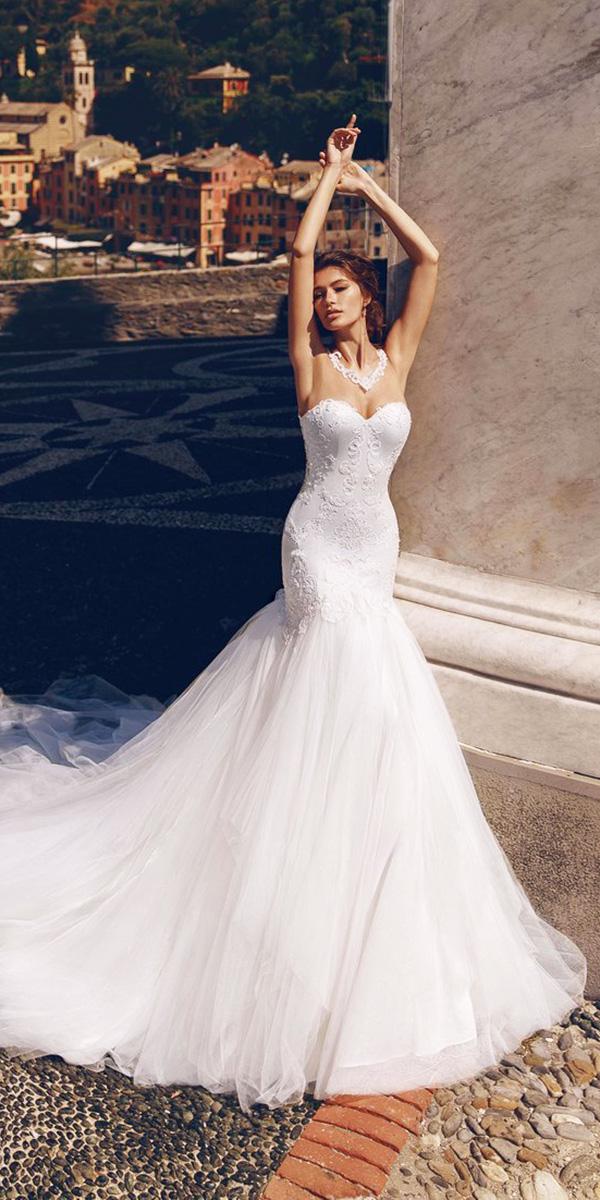 mermaid sweetheart neckline wedding dresses photo - 1