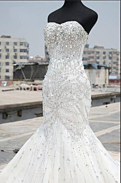 mermaid wedding dresses under 100 photo - 1