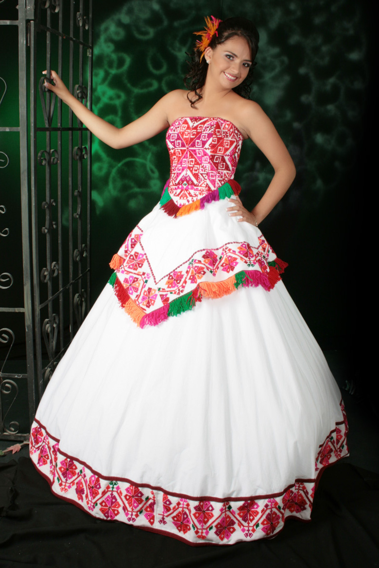 mexican embroidered wedding dresses photo - 1