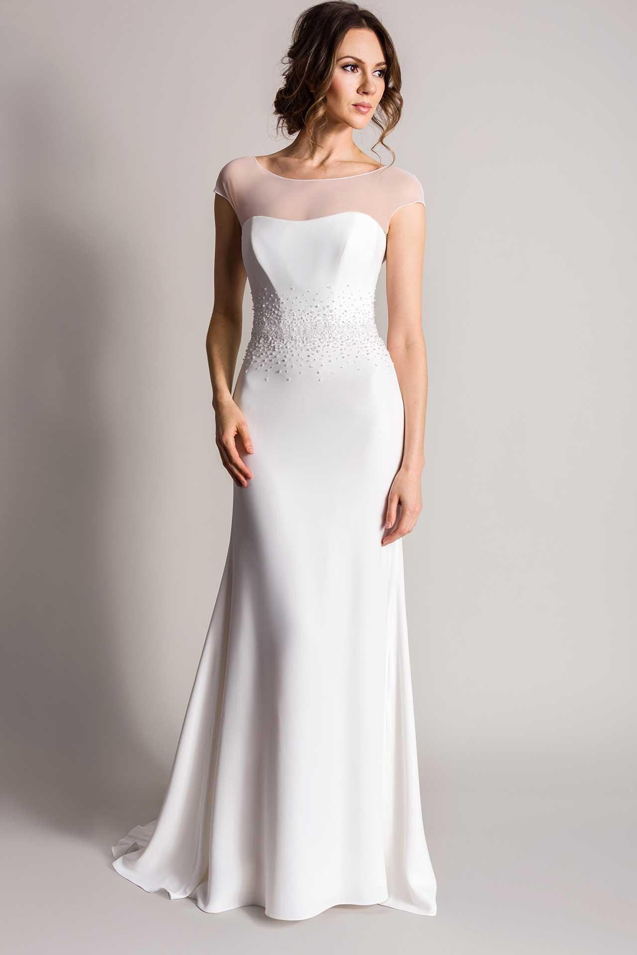 minimalist wedding dresses photo - 1