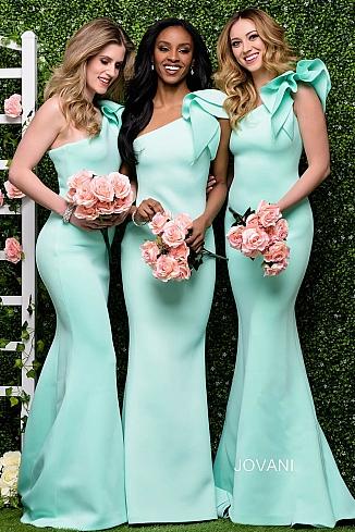 mint bridesmaid dresses wedding photo - 1
