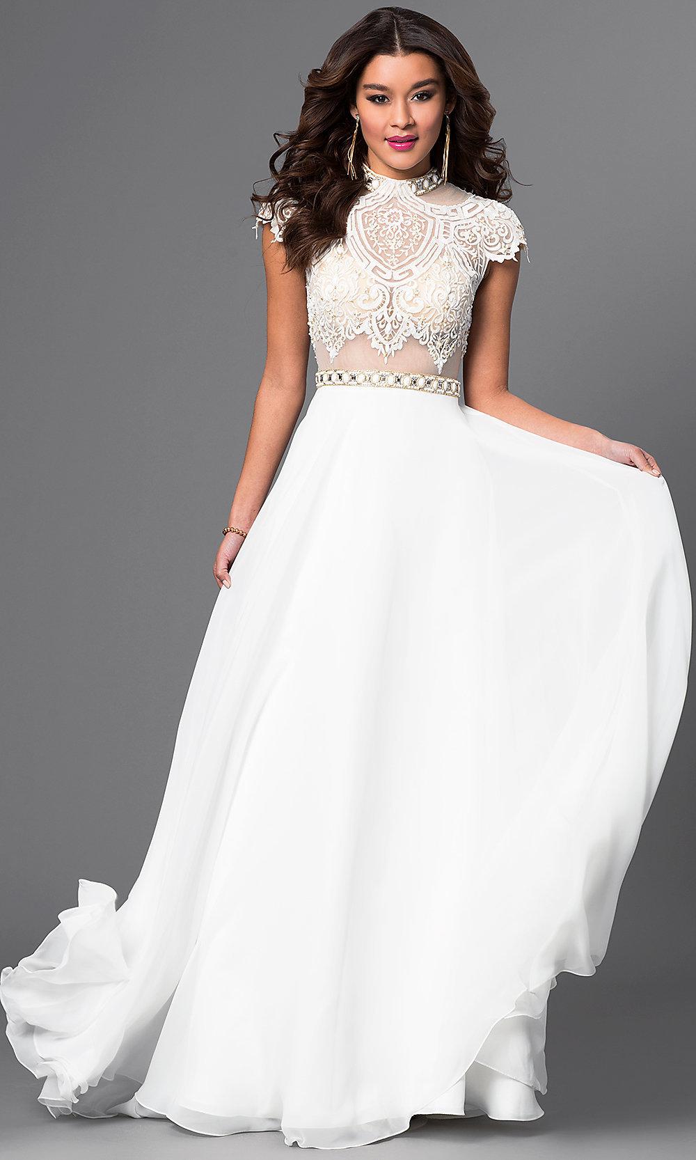 mock neck wedding dresses photo - 1