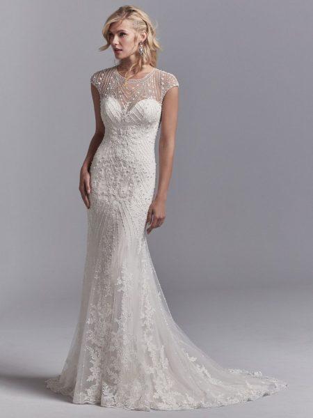 modern lace wedding dresses photo - 1