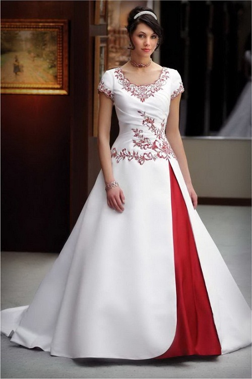 modern wedding dresses with sleeves photo - 1