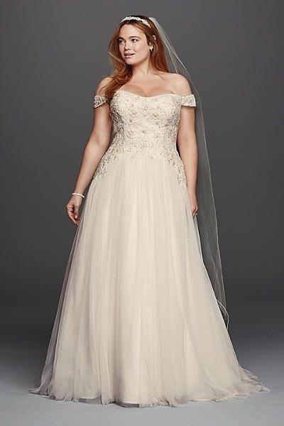 modest plus size wedding dresses photo - 1