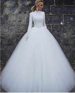 modest wedding dresses long sleeve photo - 1