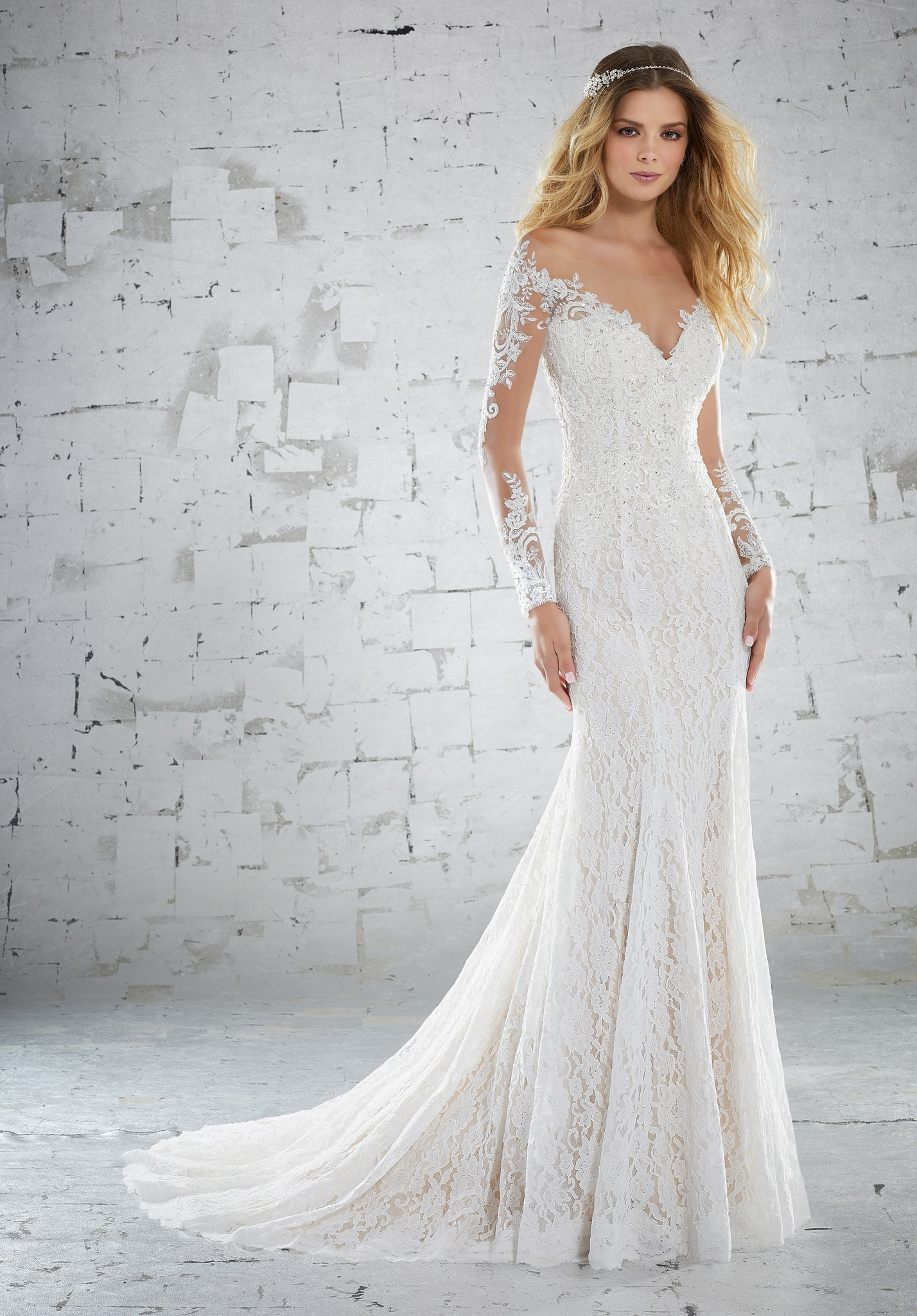 modest wedding dresses with long sleeves photo - 1