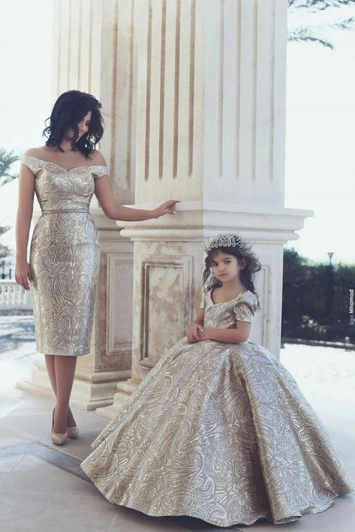 mommy and daughter wedding dresses photo - 1