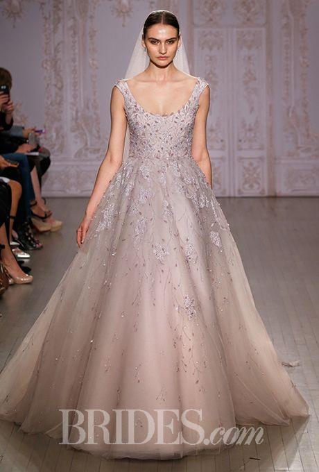 monique lhuillier blush wedding dresses photo - 1