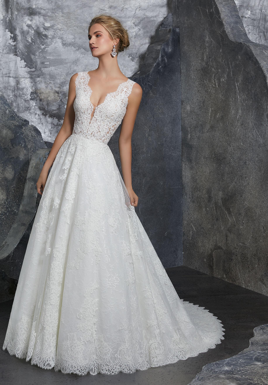 mori lee lace wedding dresses photo - 1