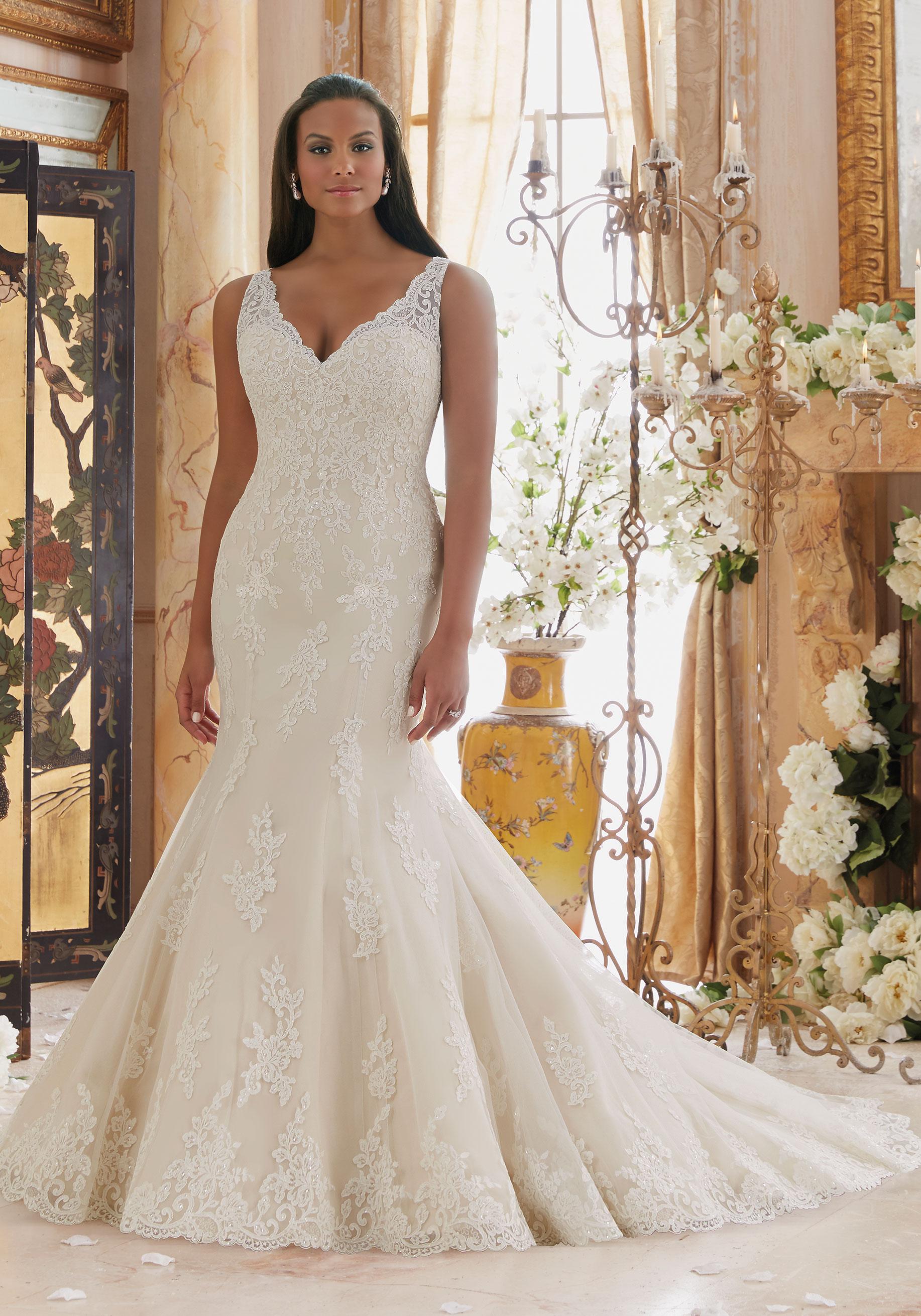 mori lee plus size wedding dresses photo - 1