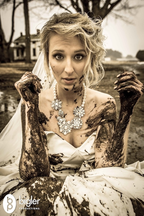 muddy girl wedding dresses photo - 1
