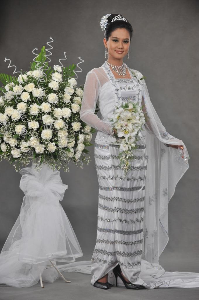 myanmar wedding dresses photo - 1