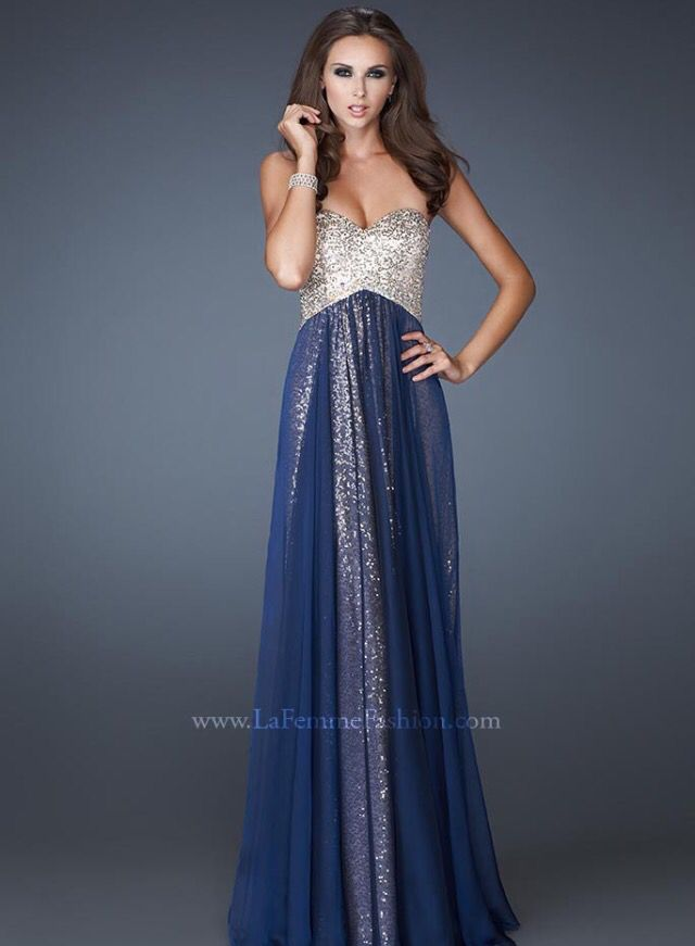 navy blue and gold wedding dresses photo - 1