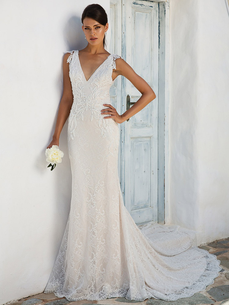 non lace wedding dresses photo - 1