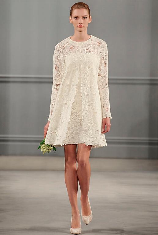 non traditional short wedding dresses photo - 1