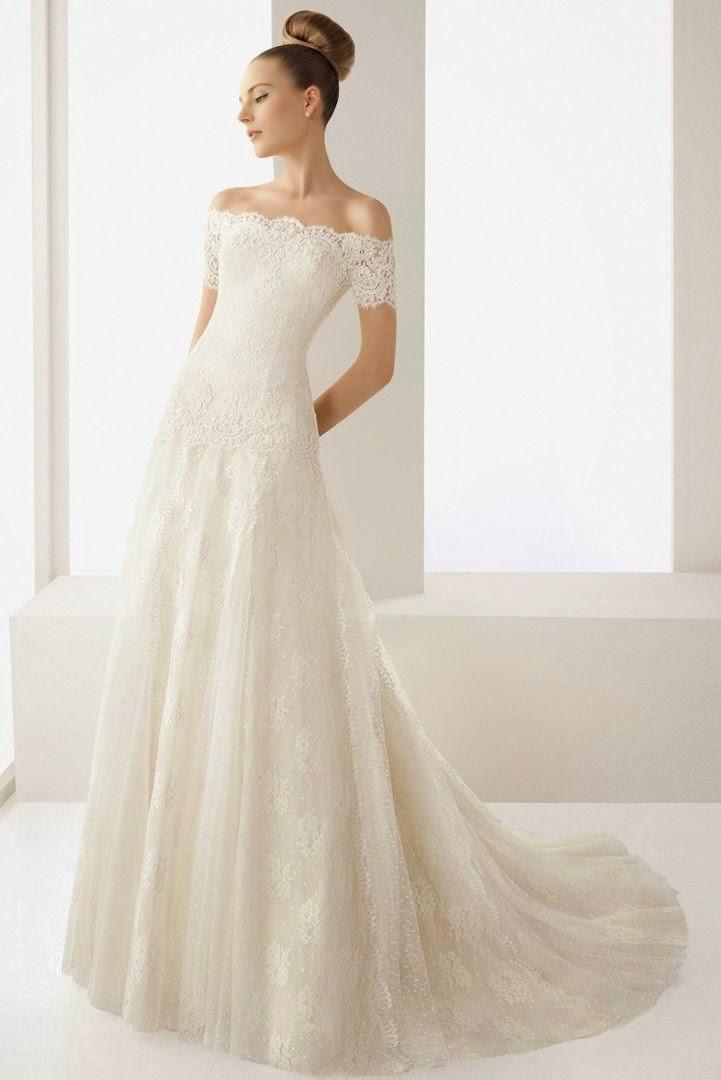 off white beach wedding dresses photo - 1