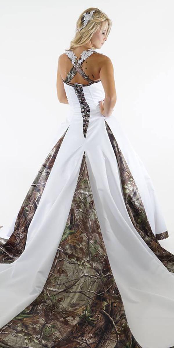 orange and camo wedding dresses photo - 1
