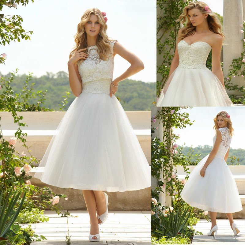 outdoor casual wedding dresses photo - 1