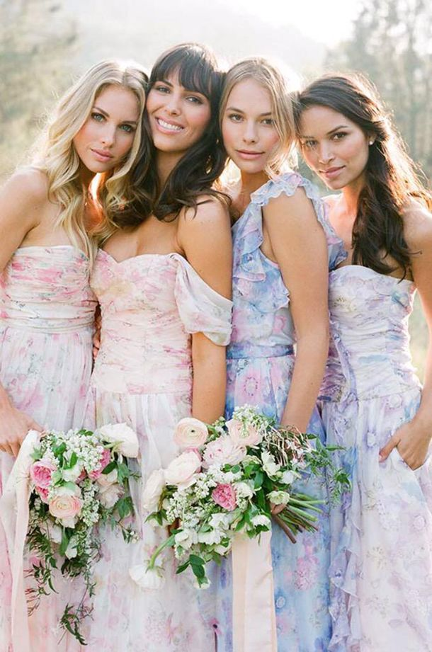 pastel dresses for wedding photo - 1