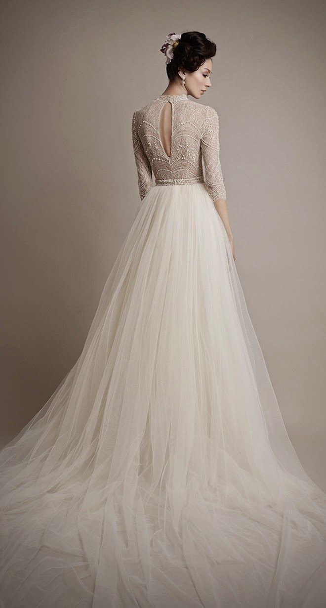 pattern wedding dresses photo - 1