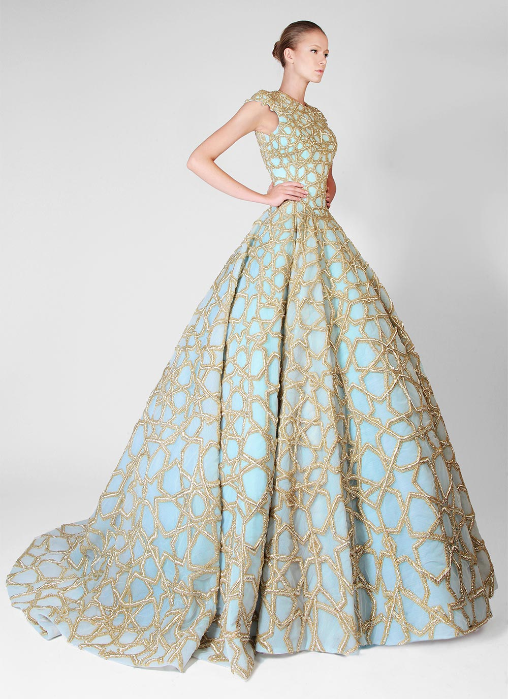 patterned wedding dresses photo - 1