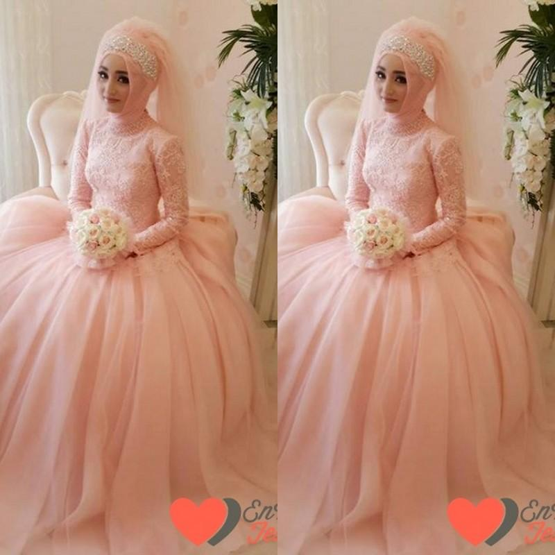 peach colored dresses wedding photo - 1