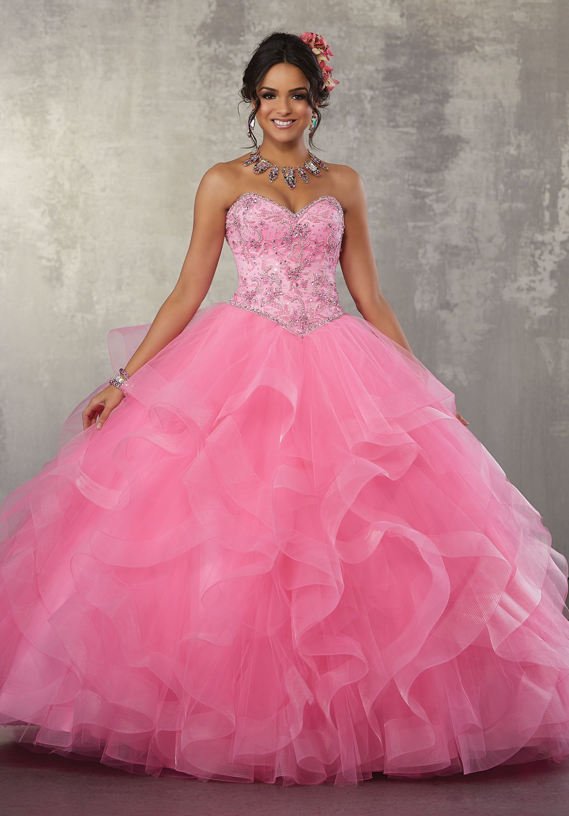 pink and blue wedding dresses photo - 1