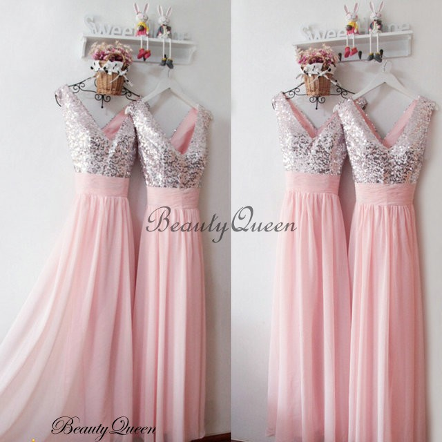 pink and silver wedding dresses photo - 1
