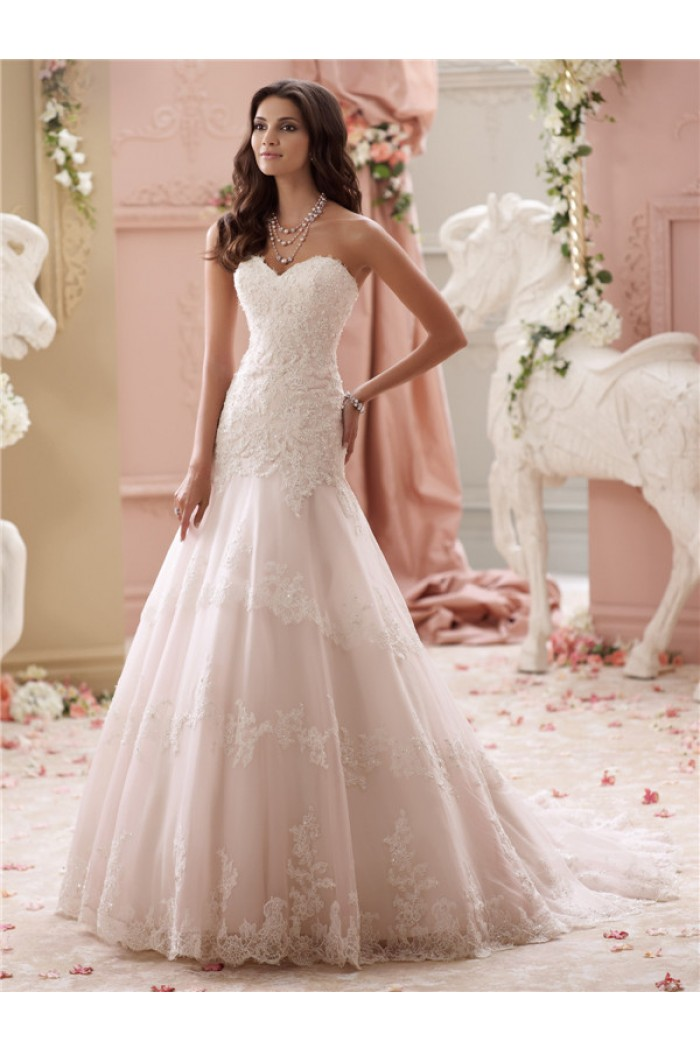 pink blush wedding dresses photo - 1