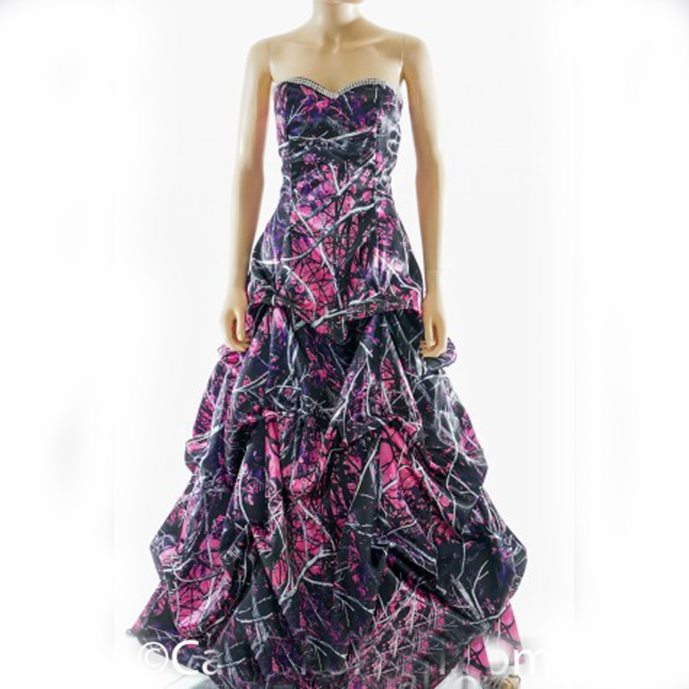 pink camo wedding dresses photo - 1