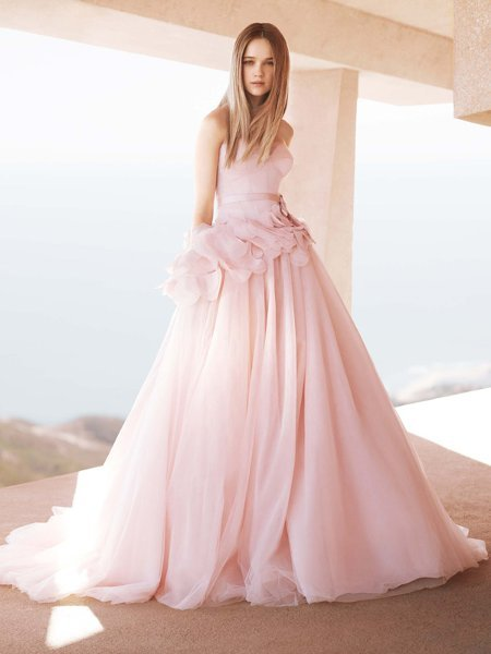 pink dresses for wedding photo - 1