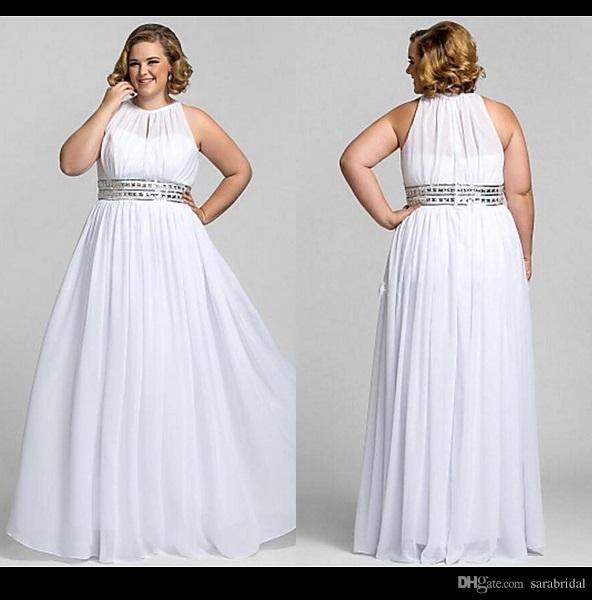 pink plus size wedding dresses photo - 1