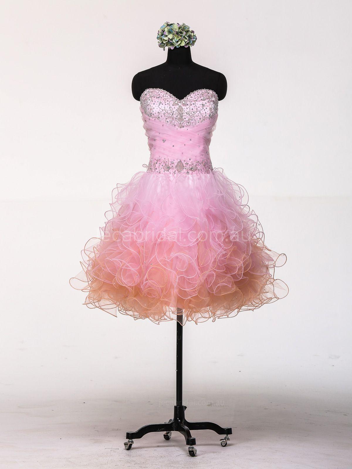pink short wedding dresses photo - 1