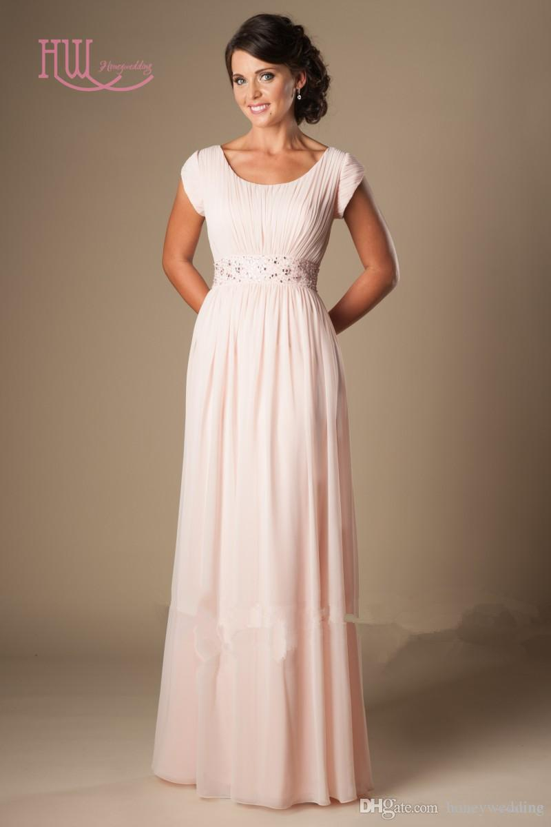 pink wedding dresses with sleeves photo - 1