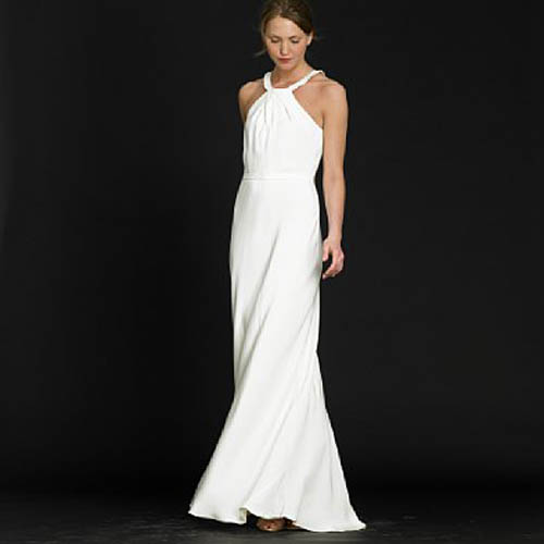plain and simple wedding dresses photo - 1