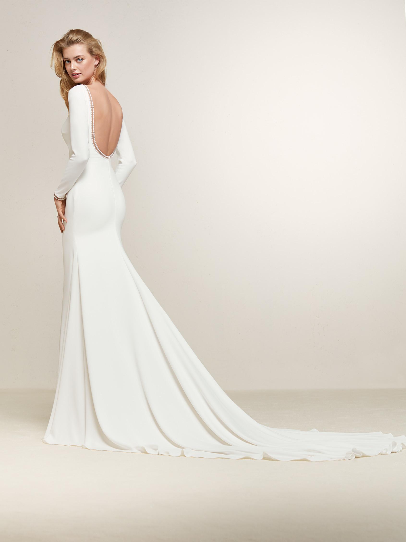plain simple wedding dresses photo - 1