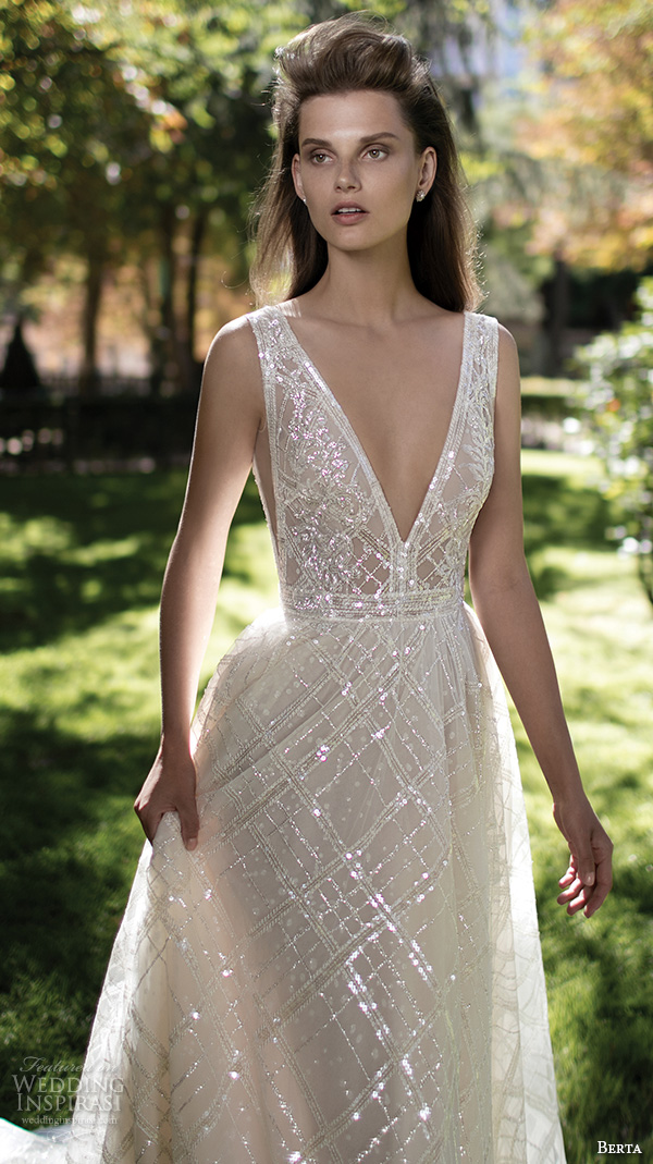 plunging wedding dresses photo - 1