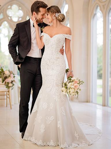 plus size a line wedding dresses photo - 1