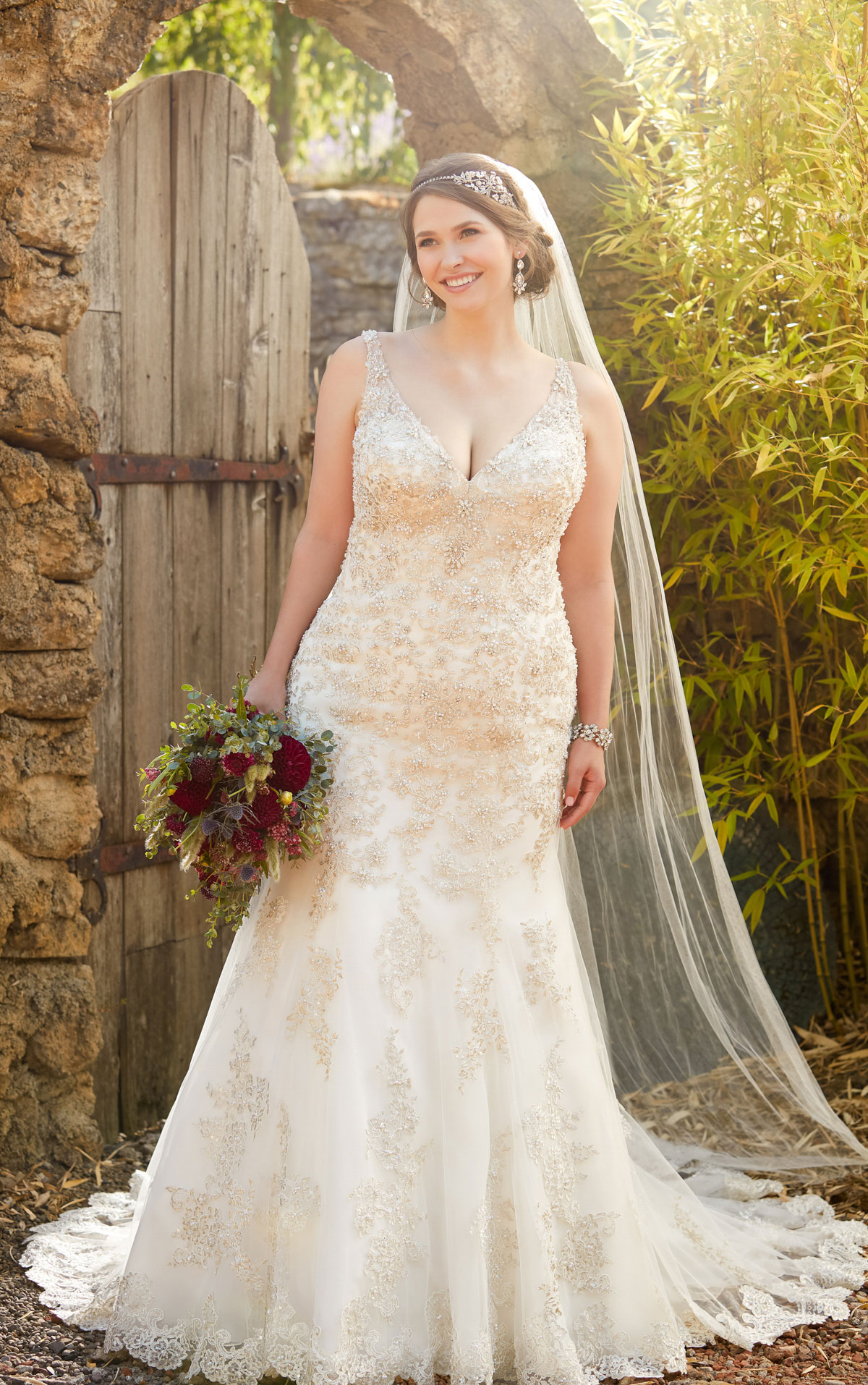 plus size beaded wedding dresses photo - 1